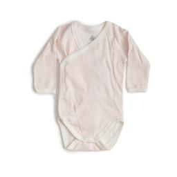 Petit Bateau Petit Bateau - Romper, White Light Pink Stripes