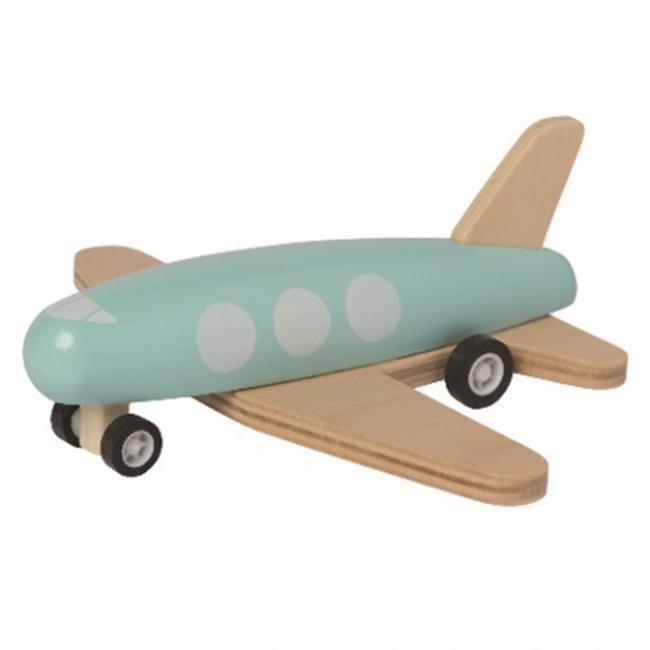 Manhattan Toy Manhattan Toy - Wood Plane with Spring Wheels