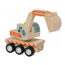 Manhattan Toy Manhattan Toy - Camion Grue en Bois avec Roues à Ressorts