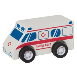 Manhattan Toy Manhattan Toy - Ambulance en Bois avec Roues à Ressorts