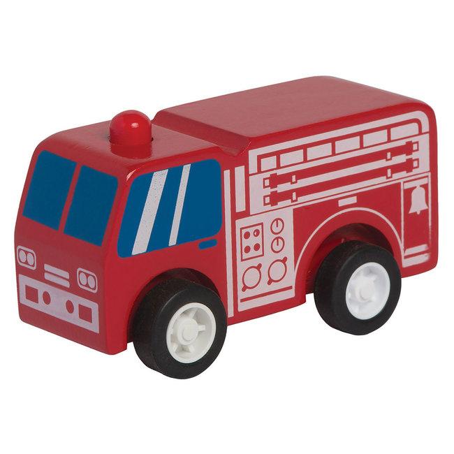 Manhattan Toy Manhattan Toy - Wooden Fire Truck with Spring Wheels