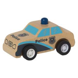 Manhattan Toy Manhattan Toy - Voiture de Police en Bois avec Roues à Ressorts