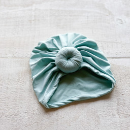Mini Bretzel Mini Bretzel - Premium Collection Turban, Light Blue, 0-2 years