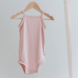 Jax and Lennon Jax and Lennon - Tank Bamboo Onesie, Pink