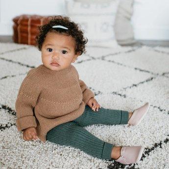 Minimoc Heyfolks - Mini Jane Soft Soles Shoes, Sparrow
