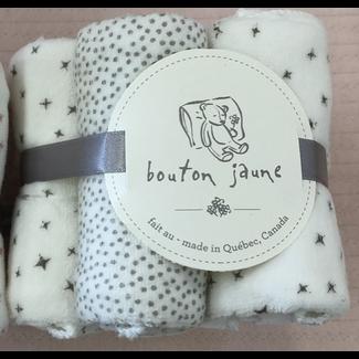 Bouton Jaune Bouton Jaune - Set of 7 Velvet Ratine Washclothes, Stella Picottin Grey