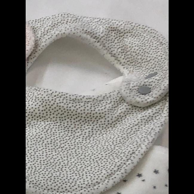Bouton Jaune Bouton Jaune - Small Velvet Ratine Bib, Picottin Grey, One Size