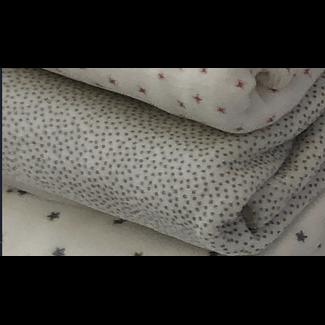 Bouton Jaune Bouton Jaune - 33 x 29'' Velvet Ratine Blanket, Picottin Grey