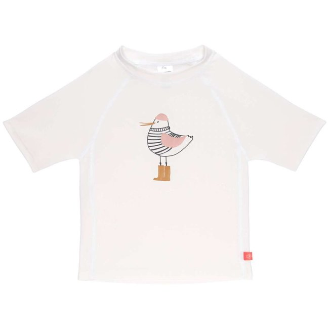 Lässig Lässig - Short Sleeves Swim Sweater, White Seagull