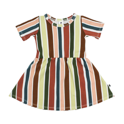 Little & Lively Little & Lively - Daphne Dress, Fiesta Stripe