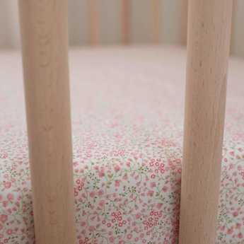 Bouton Jaune Bouton Jaune - Cotton Fitted Sheet, À la Folie Pink