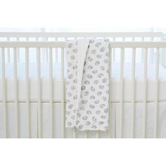 Bouton Jaune Bouton Jaune - 33 x 29'' Velvet Ratine Blanket, Hedgehog