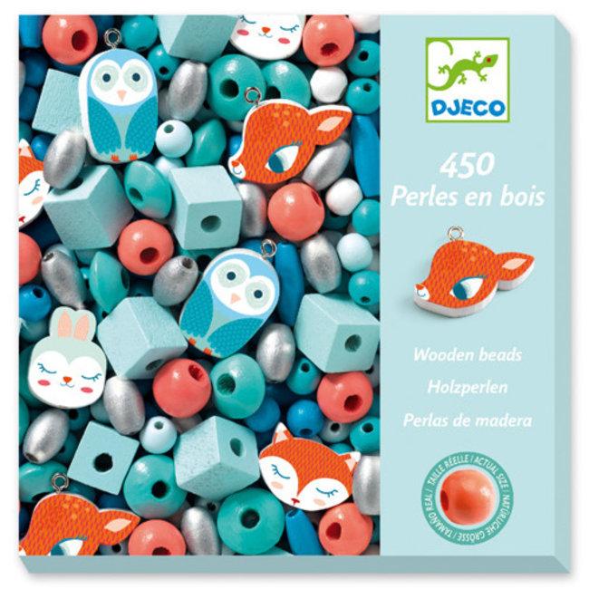 Djeco Djeco - Perles de Bois pour Bijoux, Petits Animaux