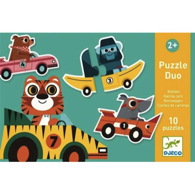 Djeco Djeco - Puzzle Duo, Racing Cars