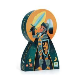 Djeco Djeco - Silhouette Puzzle, Full Moon Knight