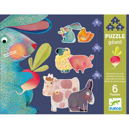Djeco Djeco - Giant Puzzle, Pissenlit and his Friends