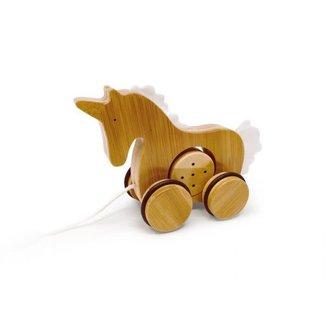 Kinderfeets Kinderfeets - Bamboo Push Pull Toy, Unicorn