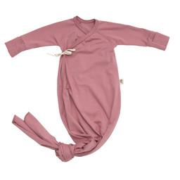 Little Yogi Little Yogi - Organic Bamboo Kimono Gown, Dusty Rose 0-3 months