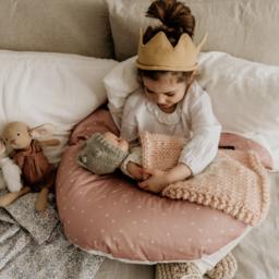 Maovic Maovic - Multipurpose Nursing Pillow, Hearts Pink