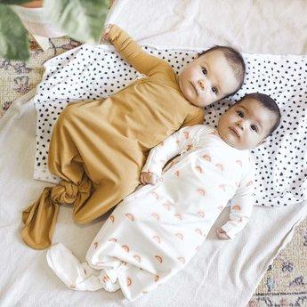 Little Yogi Little Yogi - Organic Bamboo Kimono Gown, Caramel 0-3 months