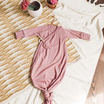 Little Yogi Little Yogi - Dormeuse Kimono en Bambou Biologique, Vieux Rose 0-3 mois