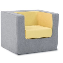 Monte Design Monte - Children's Armchair Cubino, Grey and Yellow