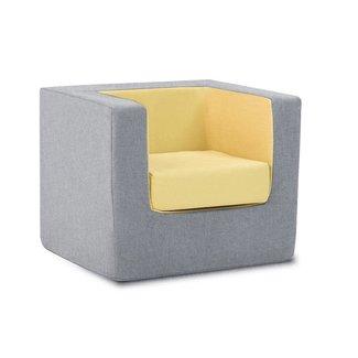 Monte Design Monte - Children's Armchair Cubino, Grey and Yellow