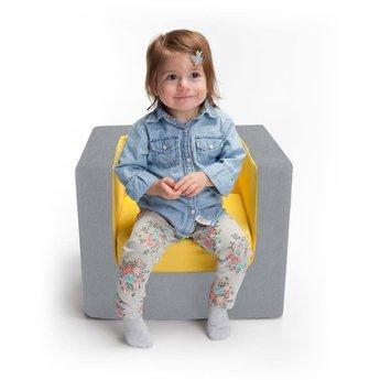 Monte Design Monte - Fauteuil Pour Enfant Cubino, Gris et Jaune