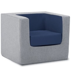 Monte Design Monte - Children's Armchair Cubino, Grey and Navy Blue