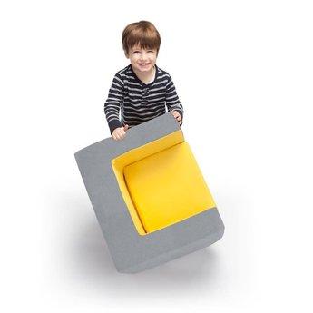 Monte Design Monte - Children's Armchair Cubino, Grey and Navy Blue