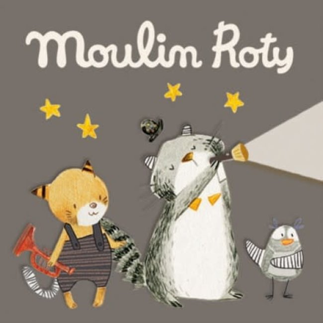 Moulin Roty Moulin Roty - 3 Discs for Storybook Lamp, Les Moustaches