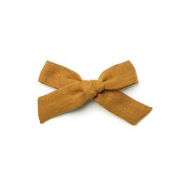 Wunderkin Wunderkin - Medium Schoolgirl Bow Clip, Cumin