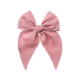 Wunderkin Wunderkin - Midi Fable Bow Clip, Piney River Pink