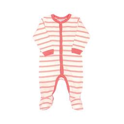 Coccoli Coccoli - Pyjama à Pattes avec Boutons, Rose Chiné