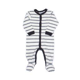 Coccoli Coccoli - Pyjama à Pattes avec Boutons, Gris Chiné