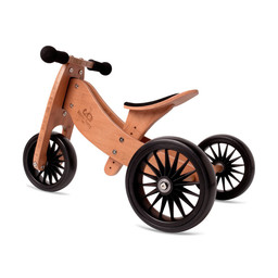 Kinderfeets Kinderfeets - Tiny Tot PLUS Balance Bike 2-in-1, Bamboo