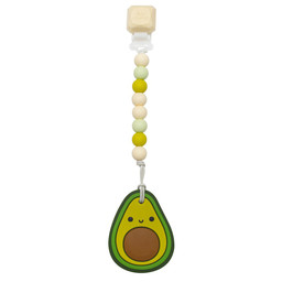 Loulou Lollipop Loulou Lollipop - Jouet de Dentition avec Attache-Suce, Avocat