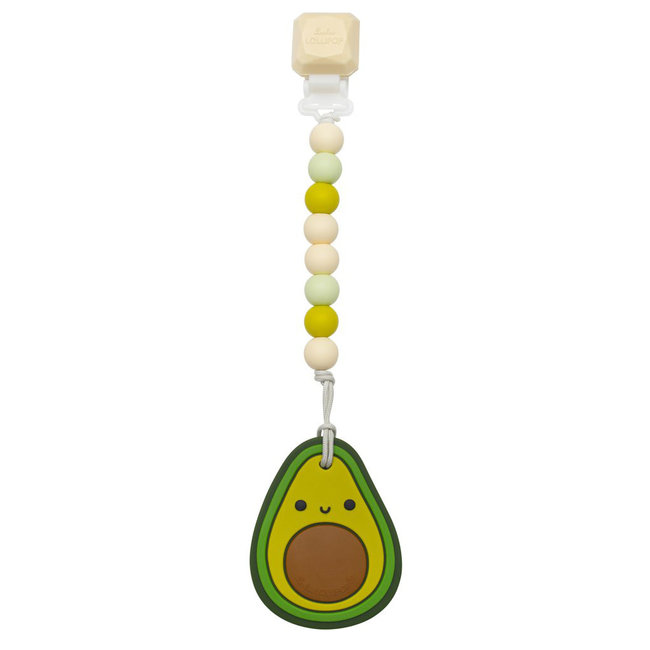 Loulou Lollipop Loulou Lollipop - Teether with Pacifier Clip, Avocado