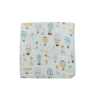 Loulou Lollipop Loulou Lollipop - Bamboo Fitted Crib Sheet, Up Up away
