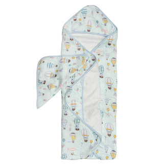 Loulou Lollipop Loulou Lollipop - Bamboo Muslin Hooded Towel and Washcloth Set, Up Up Away