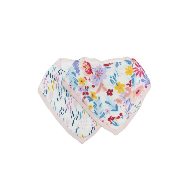 Loulou Lollipop Loulou Lollipop - Muslin Bib Set of Two, Field Flowers