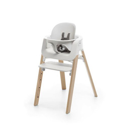 Stokke Stokke - Steps High Chair, Natural Legs, White Baby Set and Seat