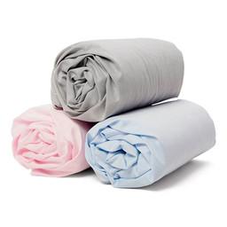 Bouton Jaune Bouton Jaune - Cotton Fitted Sheet, Blue