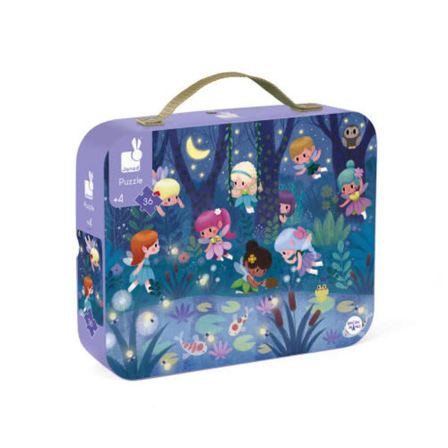 Janod Janod - 36 Pieces Puzzle, Fairies and Waterlilies