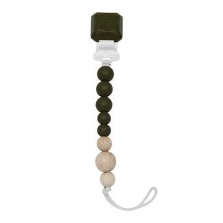 Loulou Lollipop Loulou Lollipop - Colour Pop Pacifier Clip, Avocado