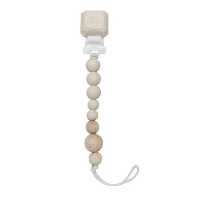 Loulou Lollipop Loulou Lollipop - Colour Pop Pacifier Clip, Coconut Cream