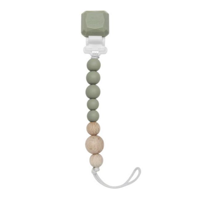 Loulou Lollipop Loulou Lollipop - Colour Pop Pacifier Clip, Silver Sage