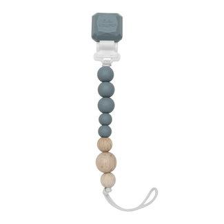 Loulou Lollipop Loulou Lollipop - Colour Pop Pacifier Clip, Slate