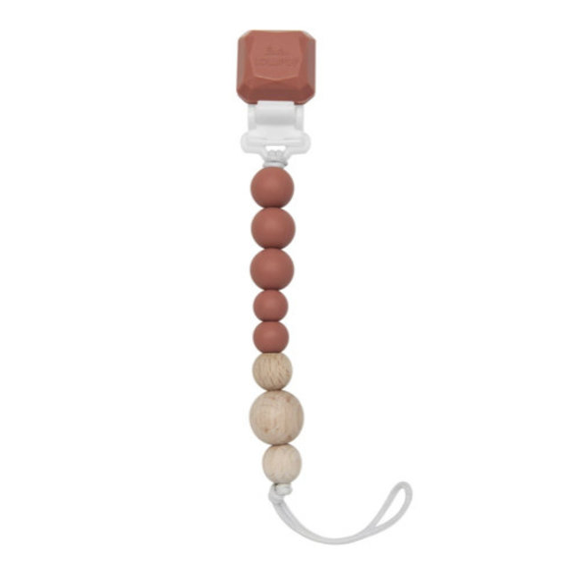 Loulou Lollipop Loulou Lollipop - Colour Pop Pacifier Clip, Terra Cotta
