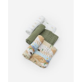 Little Unicorn Little Unicorn - Cotton Muslin Swaddle 3 Pack, Desert Hills